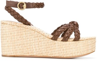 Gianvito Rossi Braided Wedged Sandals
