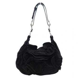Saint Laurent Black Velvet Handbags