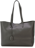 Saint Laurent Leather Tote - Anthracite