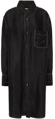 Marni Oversized Satin-twill Shirt Dress