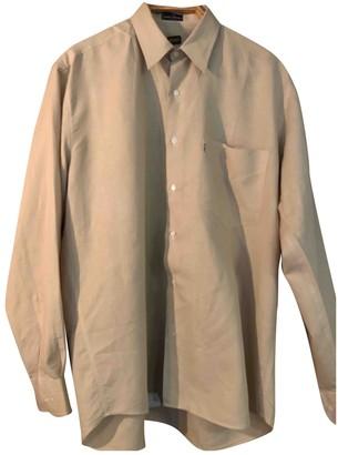 Non Signã© / Unsigned Oversize Beige Linen Shirts