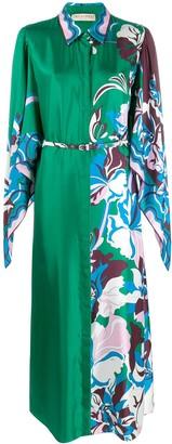 Emilio Pucci draped sleeve long shirt dress