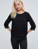 B.young Hessio Blouse With Lace Trim