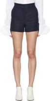 Acne Studios Navy Canvas Callie Shorts