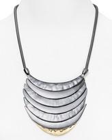 """Aqua Layered Crescent Necklace, 18"""""""