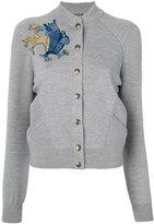 Alexander McQueen embroidered griffin cardigan