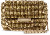Karen Millen Diamante Foldover Clutch - Bronze