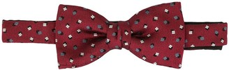 Cerruti abstract pattern bow tie