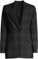 Elie Tahari Madison Plaid Single-Breasted Jacket