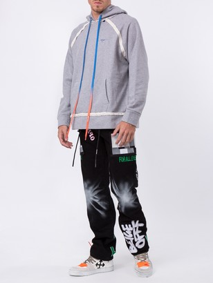 Off-White Multicolored Embroidered Jeans
