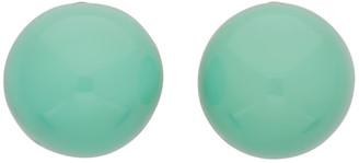 Monies Jewellery Green Barletta Earrings