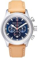 Men's Jack Mason Nautical Chronograph Leather Strap Watch, 42Mm