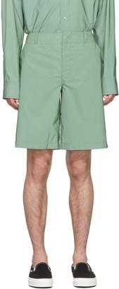 Sies Marjan Green Reflective Sterling Shorts