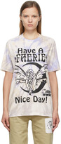 Thumbnail for your product : Online Ceramics SSENSE Exclusive Beige Tie-Dye 'Have A Faerie Nice Day' T-Shirt