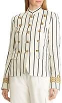 Ralph Lauren Striped Military Jacket