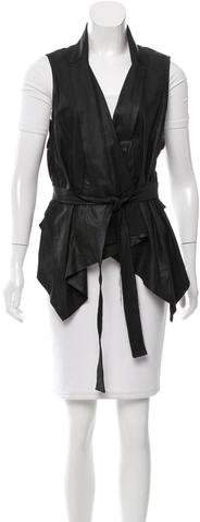 Ann Demeulemeester Suede Belted Vest w/ Tags