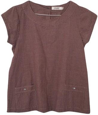 Comptoir des Cotonniers Burgundy Cotton Top for Women