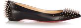 Christian Louboutin Goldoflat spike-embellished leather flats