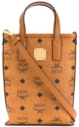 MCM Logo Print Tote Bag