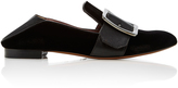 Bally Janelle Leather-Trimmed Suede Loafers