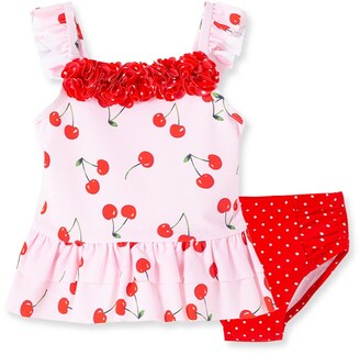 Little Me Cherry Swimsuit
