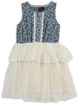 Little Lass Girls 2-6x Girls Chambray Floral Dress