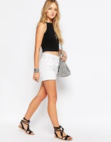 Glamorous Denim Shorts With Rip Details