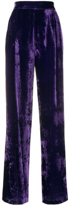 Erika Cavallini Velvet High Waisted Trousers