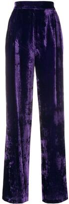 Velvet High Waisted Trousers