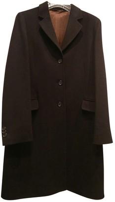 Henry Cotton Black Wool Coat for Women