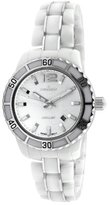 Peugeot Women's PS4891WS Swiss Ceramic Sport Bezel White Dial Watch