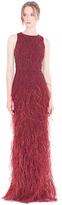 Alice + Olivia Vaughn Racerback Fishtail Gown