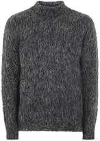Topman Charcoal Grey Mohair Turtle Neck Jumper
