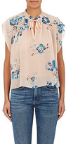 Ulla Johnson Women's Saadi Floral-Print Silk Georgette Tieneck Blouse