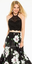 Camille La Vie Lace Halter Crop Top