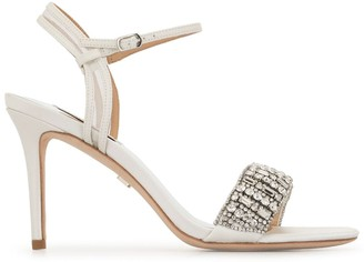 Badgley Mischka Garan crystal sandals