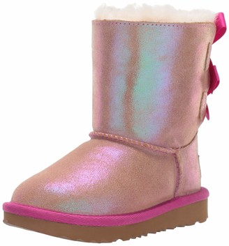 UGG Girls' T Bailey Bow II Shimmer Ankle Boots