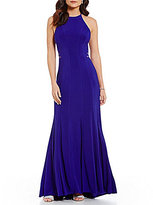 Ignite Evenings Halter Cut-Out Gown