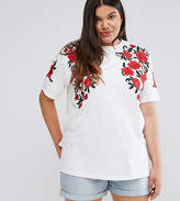 Asos T-Shirt With Floral Embroidery