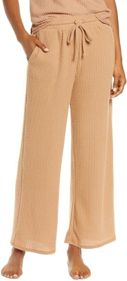 Socialite Waffle Knit Wide Leg Pants