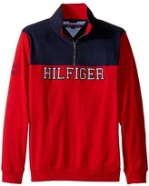 Tommy Hilfiger Long Sleeve Color Block 1/2 Zip Sueded Sweater (Big Kids)