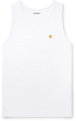 Carhartt Wip Chase Logo-Embroidered Cotton-Jersey Tank Top