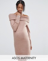 Asos Sweater Dress with Off Shoulder