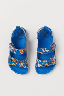 H&M Graphic-detail Sandals - Blue