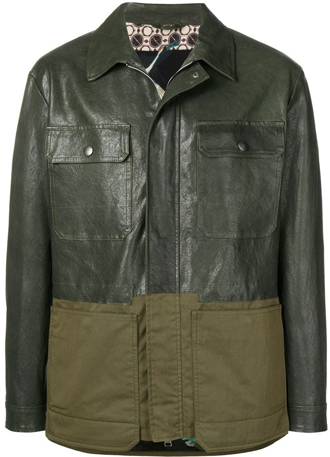 Contrast panel jacket