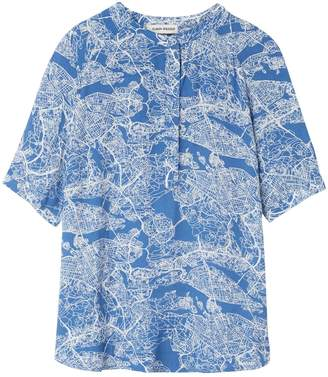 Carin Wester Blue Top for Women