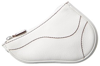 Christian Dior White Leather Saddle Pouch