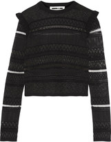 McQ by Alexander McQueen Mesh-paneled knitted top