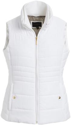 Weatherproof Women's Outerwear Vests WHITE - White Puffer Vest - Women & Plus