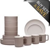 Noritake ColorTrio Stax 16-Piece Dinnerware Set in Clay